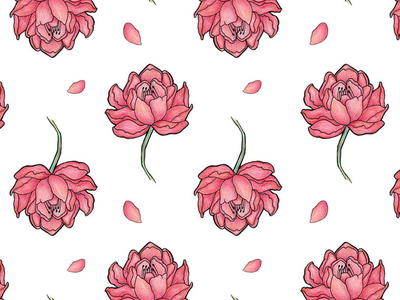 flower power design graphic art illustration details digital analoge pencil colour drawing pattern flower
