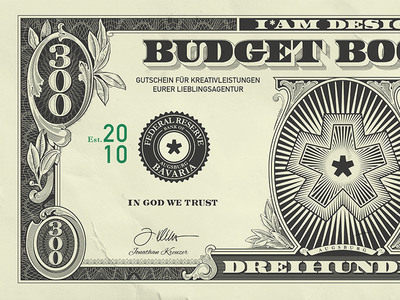 The IAM Budget Booster guilloches win paper 300 star voucher money dollarbill booster dollar budget iamdesign