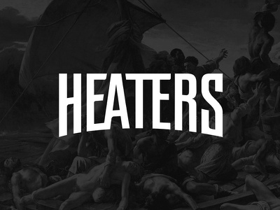 Heaters Logo lettering art streetwear fashion heaters logo branding logodesign