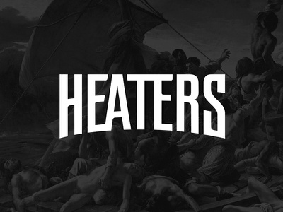 Heaters Logo lettering art streetwear fashion heaters logo branding logodesign