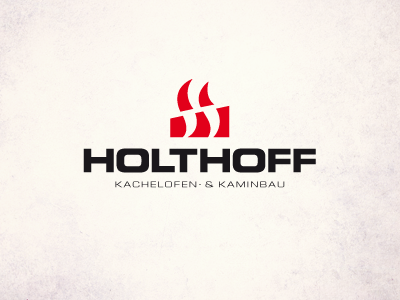 Holthoff  fire holthoff oven fire place flames hot sans serif red iam iam design