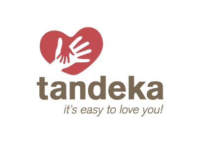 Tandeka Logo hand hand in hand tandeka iam iam design easy love you heart red