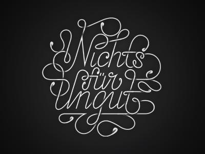 NFU Festival script lettering typography typeface type festival calligraphy augsburg logo music nichts für ungut iam design