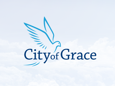 City of grace iam iam design logodesign logo city grace bird dove church christian christ