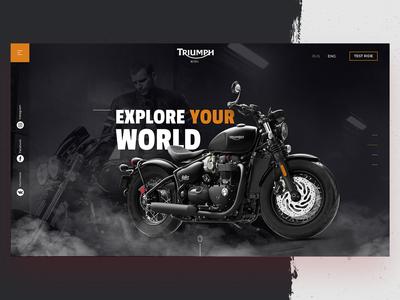 Triumph bike promo