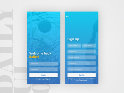 DailyUi - 001   Sign Up