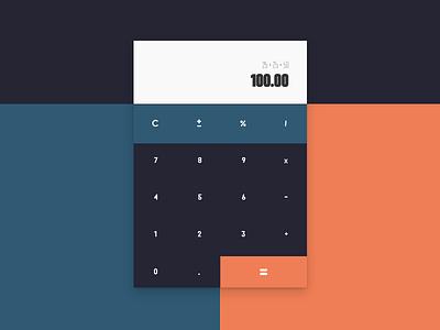 Daily UI #004 - Calculator flat calculator day004 daily100 dailyui