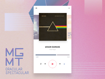 Music Player - Daily UI 009 ux ui player music mobile day 009 daily100 dailyui