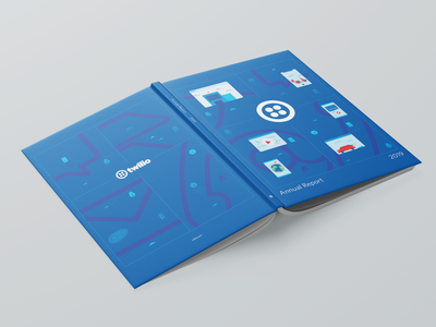 2019 Twilio Annual Report video world scooter hospital ground aerial map vector twilio mockup annual report