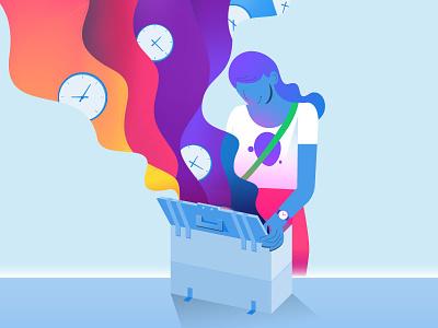 Email Marketing Time Saving Toolkit box toolkit time email marketing the next era illustration sendgrid