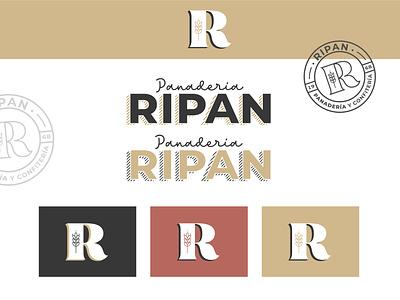 Ripan Bakery Branding graphicdesign typo icon typography logo vector design branding
