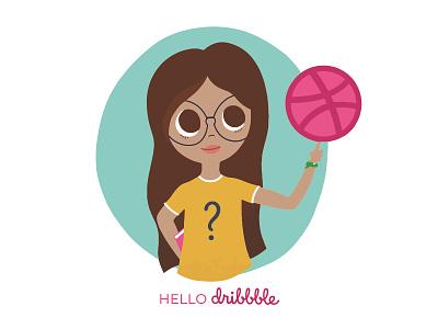 Hello Dribbble! vector charachter design design illustration