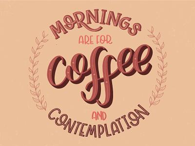 Coffee caligraphy procreate lettering art lettering artist lettering design illustration