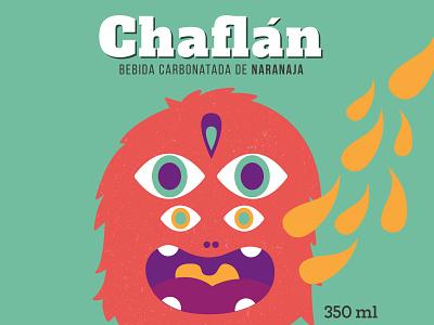 Monster illustration for a soft drink vector charachter design branding design illustration