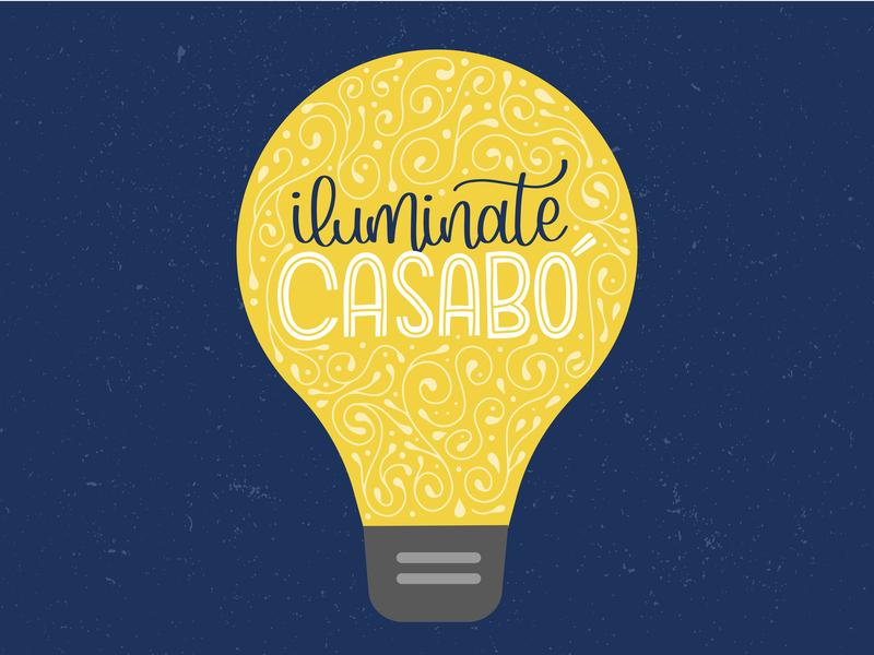 Casabó Lettering typography lettering poster procreate lettering art lettering artist caligraphy branding vector illustration design