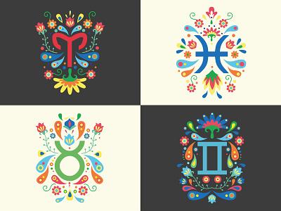 Zodiac signs design vector illustration design
