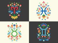 Zodiac signs design