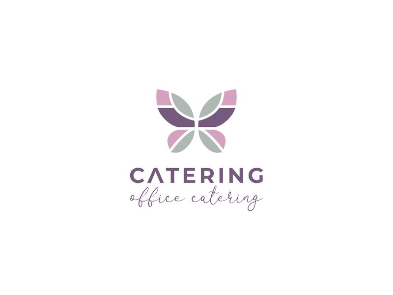 Office Catering logo lettering caligraphy branding illustration design
