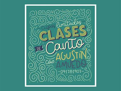 Poster design for singing lessons lettering challenge ipadlettering procreate typography lettering artist lettering art lettering caligraphy illustration design