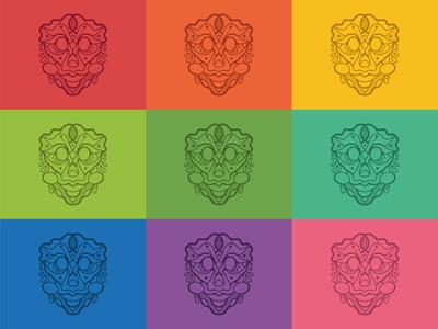 Mask design icon vector poster charachter design procreate branding colorful draw illustration design