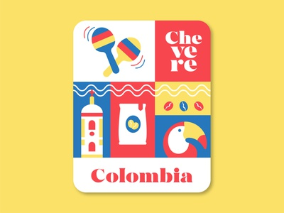 Colombia artwork colorful poster procreate vector illustration design