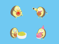 Avocado Sticker Pack 🥑 pt.2