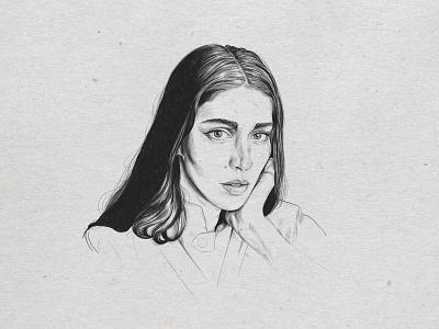 Caroline Polachek portrait procreate ipad illustration