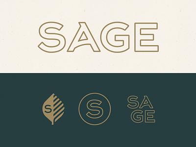 Sage Branding mark leaf botanical brand rebrand logo restaurant sage