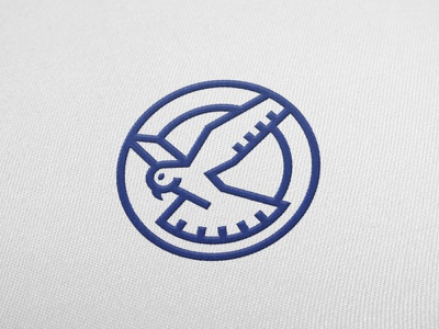 Kestrel Shoes Mark flat geometric embroidered logo illustration mark circle falcon bird kestrel