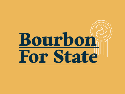 Bourbon For State Logo