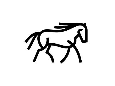 Unused Horse Mark branding illustration custom vector fieldtrip louisville kentucky monoweight illustration logo icon animal horse