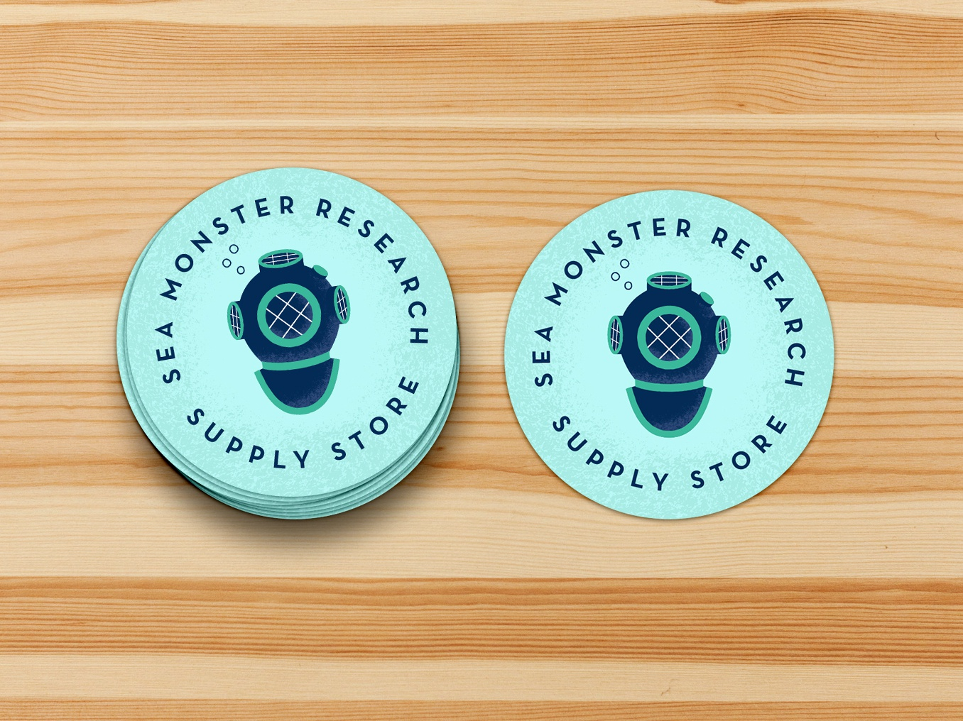 Sea Monster Research Supply Store Stickers louisville sticker illustration under the sea sea monster store young authors childtren learning writing center young authors greenhouse