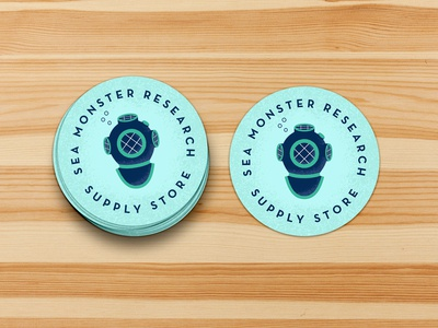 Sea Monster Research Supply Store Stickers