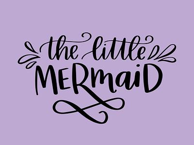 Little Mermaid Type procreate procreateapp ipad pro ariel little mermaid disney script typography type handtype lettering