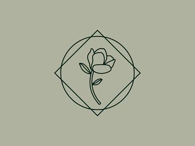 Magnolia design branding illustrator leaves mark illustration logo southern flower magnolia
