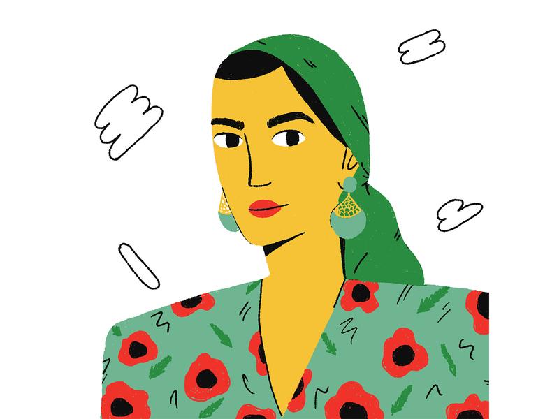 Vintage Girl character design girl vinatge