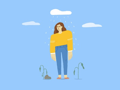 Sad Girl rain girl sad