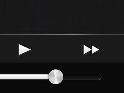 Tilt Controls tilt motion iphone ios ui slider buttons shine metal sketch