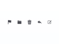 Mail Toolbar Icons