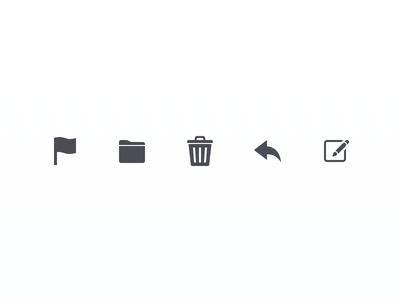 Mail Toolbar Icons mail ios toolbar icons sketch.app sketch 32px glyph