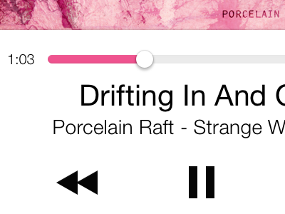 Color-Coordinated Music Playback UI color ios 7 neue music dynamic user interface