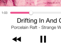 Color-Coordinated Music Playback UI