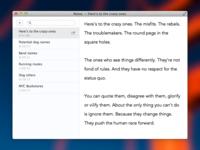 Notes Mockup (OS X)