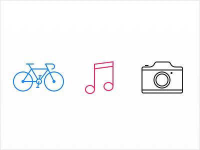 Hobbies hobbies bike bicycle music music note camera photography