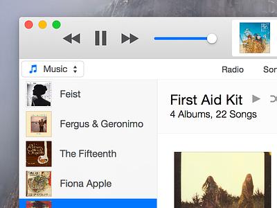 iTunes 12 itunes mac os x yosemite 10.10 music