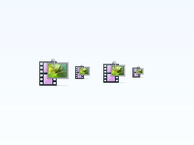 Media (Updated) media icon toolbar icon mac toolbar photo video retina