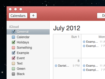 Red Calendar.app calendar.app red os x lion mountain lion skeuomorphic