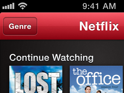 Netflix Mockup Browse View sketch netflix iphone browse movies
