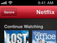 Netflix Mockup Browse View