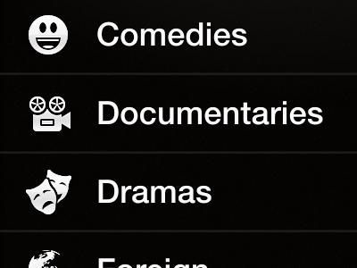 Netflix Mockup Genres View movie netflix iphone mockup genres sketch glyphs